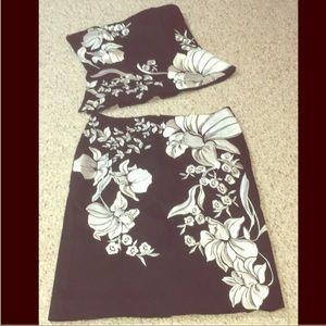 White house black market two. piece dress
